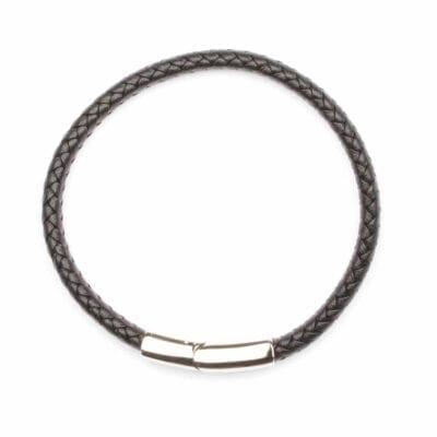 Seven/East – Losal läderarmband, svart