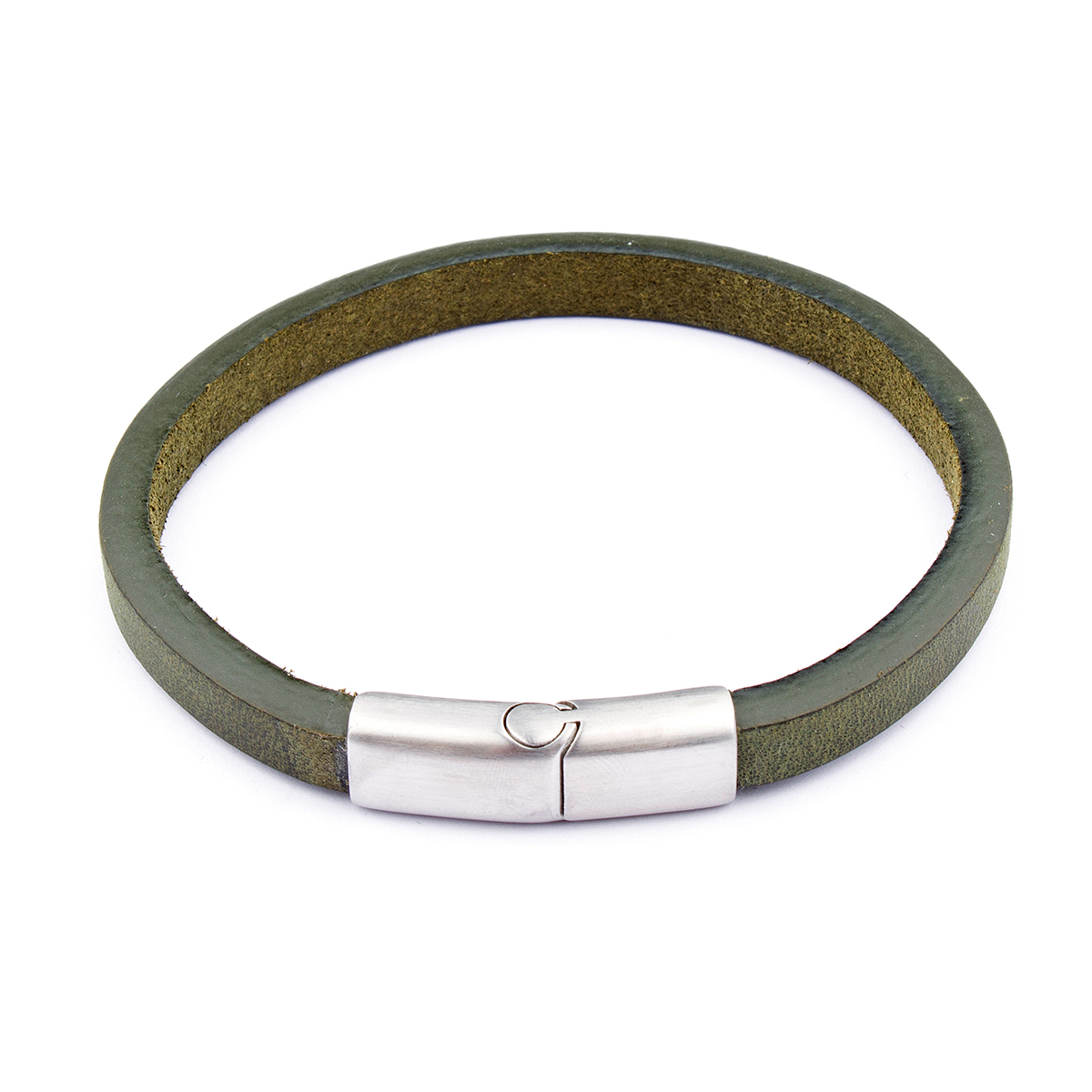 Seven/East – Western Cape läderarmband, grön