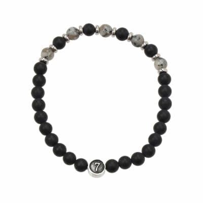 Seven/East – Huelva armband, svart/grått