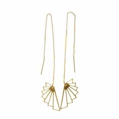 Pendulum – Wing örhängen, guld