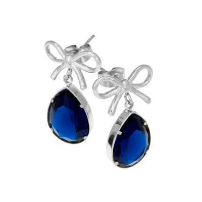 Ingnell Jewellery – Molly blue örhängen, silver