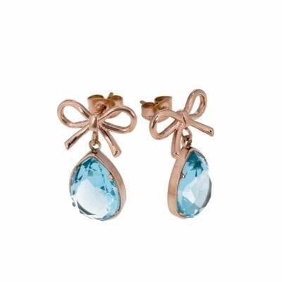 Ingnell Jewellery – Molly Aqua örhängen, rosé
