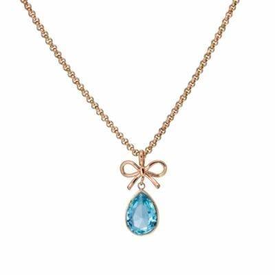 Ingnell Jewellery – Molly Aqua halsband, rosé
