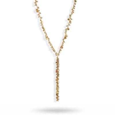 Baumgarten Di Marco – Labra leaf halsband, guld