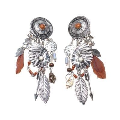 Smyckendahls – Indiana clips-örhängen, silver