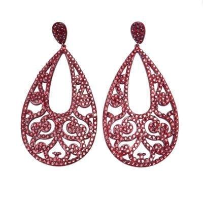 Smyckendahls – Georgia örhängen, röda