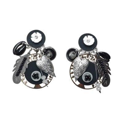 Smyckendahls – Louisiana clips-örhängen, svarta
