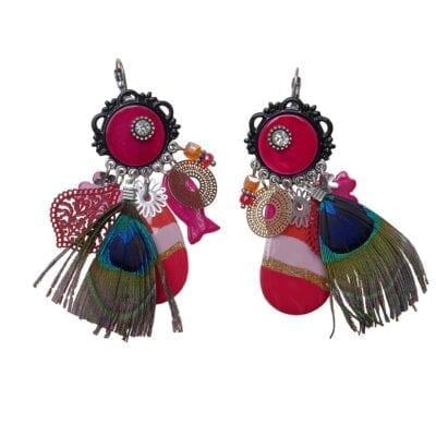 Smyckendahls – Virginia örhängen, rosa