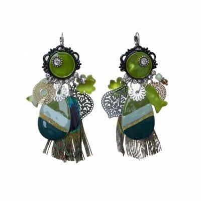 Smyckendahls – Virginia örhängen, oliv