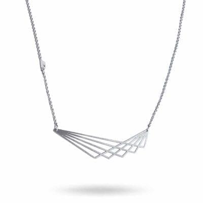 Pendulum – Wing halsband, silver