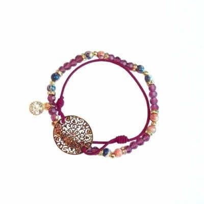 Boho armbands-set, lila