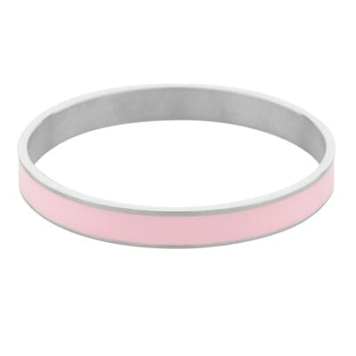 Palermo armband, silver/rosa