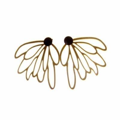 Pendulum – Flower dubbelörhängen, guld