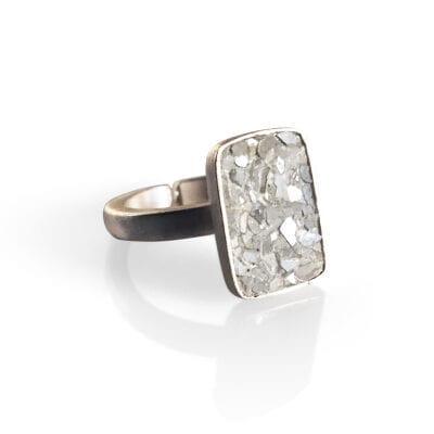 Baumgarten Di Marco – Plate ring, silver