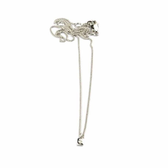 Single-diamond-necklace-silver