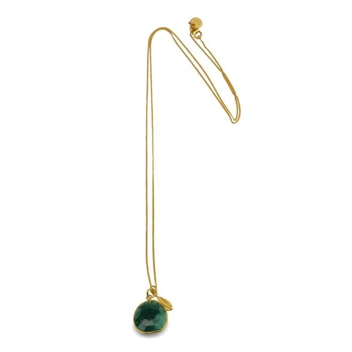 Syster-P-Glam-glam-necklace-gold-green-aventurine