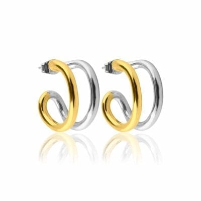 Sophie by Sophie – Two Tone Hoops örhängen, silver/guld