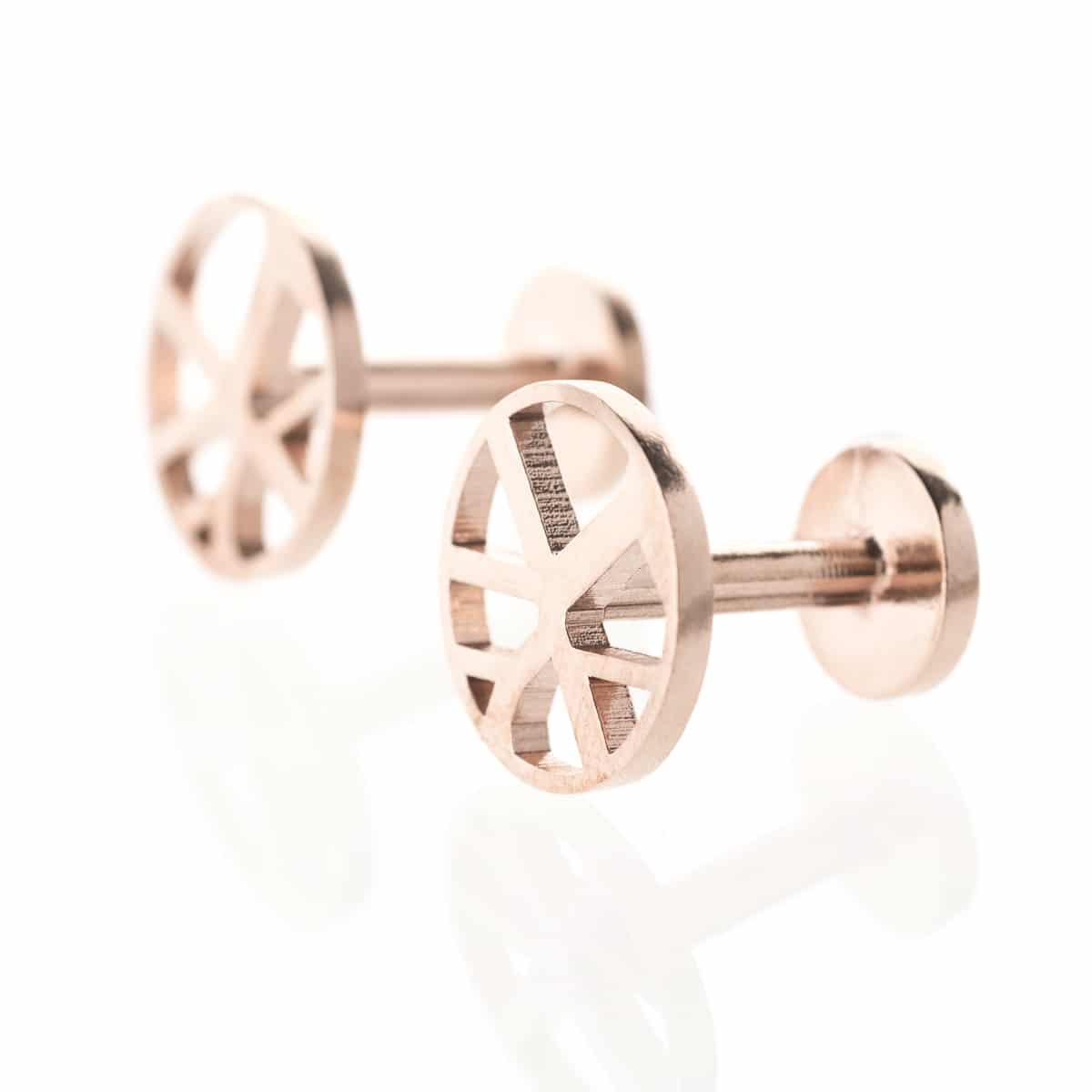 Voronoii-cufflinks-round-raw-bronze-1