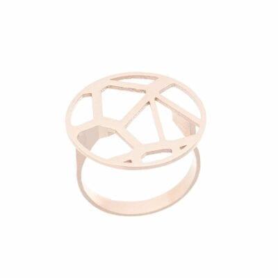 Lumitoro – Voronoi raw bronze ring