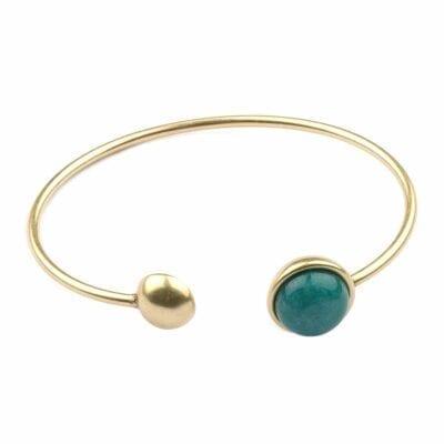 Seven/East – The Ball armband, guld/grön