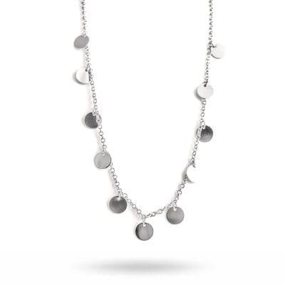 By Jolima – Spinn Coin halsband, silver