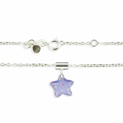 Ribambelle – Etoile halsband, ljusblått