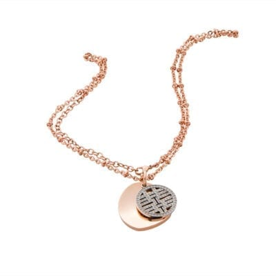 Ingnell Jewellery – Filippa långt halsband, rosé