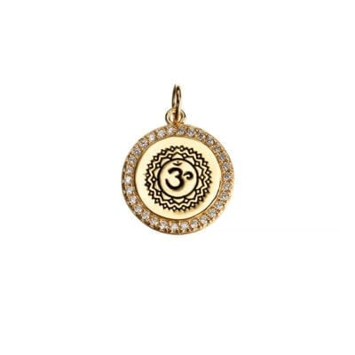 Kumkum – Aum Zircon berlock, guld