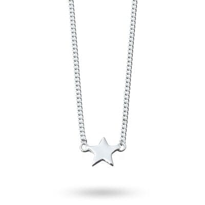 Isabel Lennse – Star chain halsband, silver