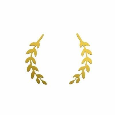 Lager örhängen, guld