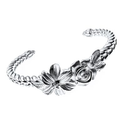 Lars Wallin – Roxanne Oxy armband, oxiderat silver