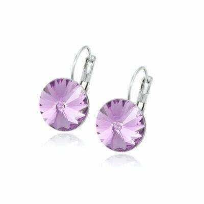 Smyckendahls – Kristallörhängen Annie, Lovely Lilac