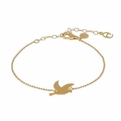 CU Jewellery – Peace armband, guld