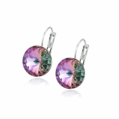 Smyckendahls – Kristallörhängen Annie, Rainbow Violet