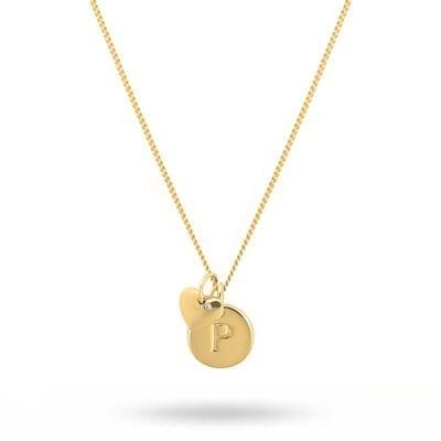 Syster P – Beloved Set, Mini bokstavsberlock med guldhjärta & kedja