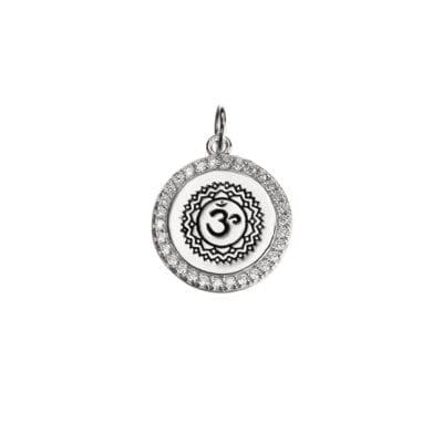 Kumkum – Aum Zircon berlock, silver