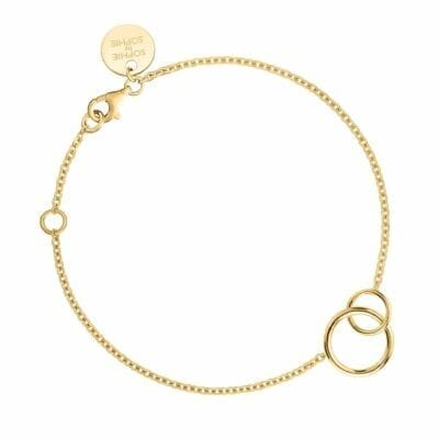 Sophie by Sophie – Mini Circle armband, guld