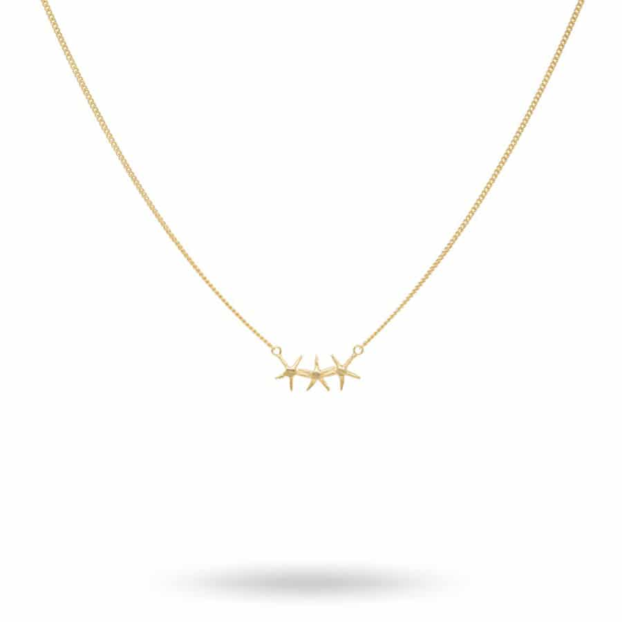 starfish-trio-necklace-silver-goldplated