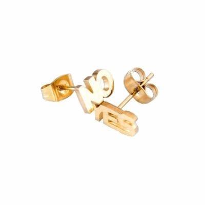 Smyckendahls – YES NO örhängen, guld