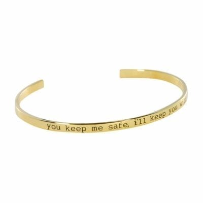 Anna + Nina – Nina Armband, You keep me safe, I'll keep you wild, guld