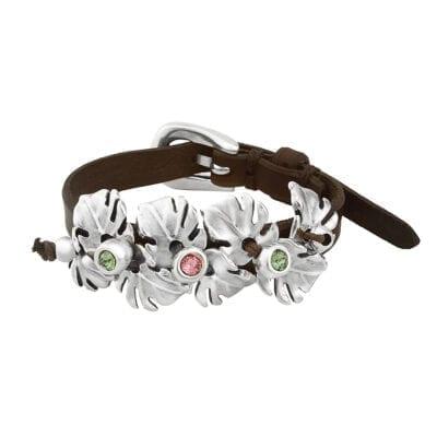 Uno de 50 – Leaves Armband, silver/brunt