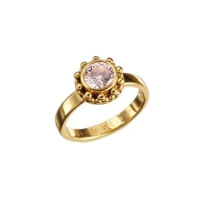 Kumkum – Coco Champagne Ring, guld