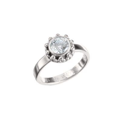 Kumkum – Coco Zircon Ring, silver