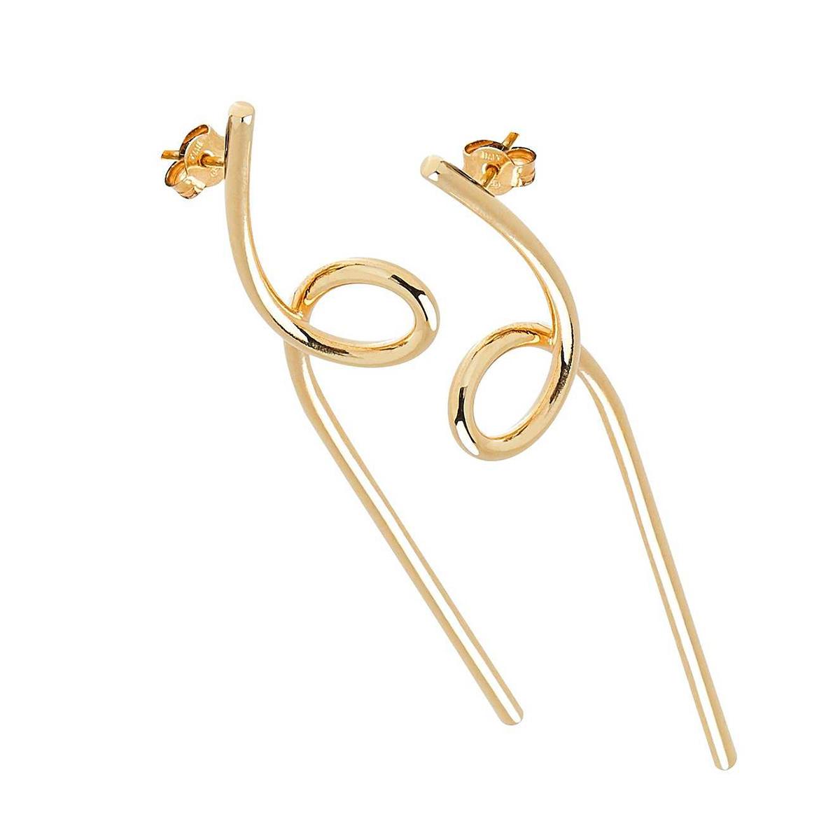 CU Jewellery – Loop örhängen,  guld