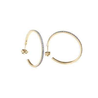Ingnell Jewellery – Klara creolörhängen, silver