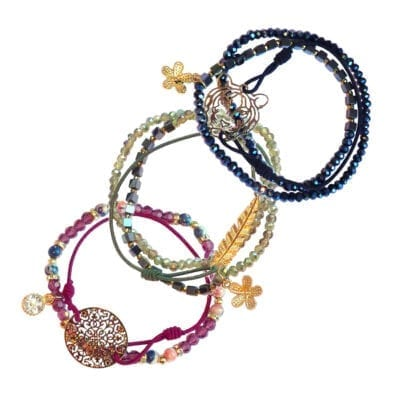 Boho armbands-set, multi