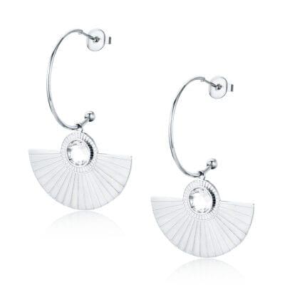 By Jolima – Spinn Big Crystal halsband, silver
