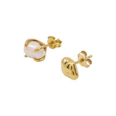 Cornelia Webb – Pearled Figaro halsband, guld