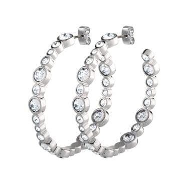 Dyrberg/Kern – Nalani Örhängen, Silver/kristall