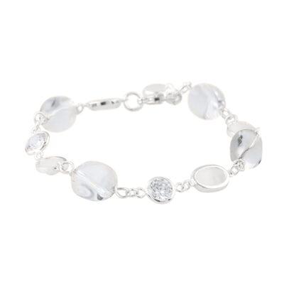 Snö of Sweden – Emilia mix armband Silver/kristall